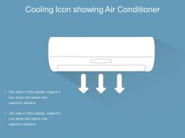 Cooling Icon Showing Air Conditioner
