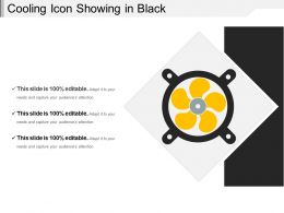 Cooling Icon Showing In Black
