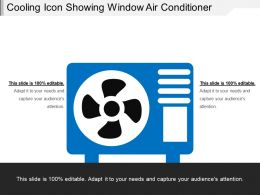 Cooling Icon Showing Window Air Conditioner