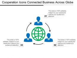 Cooperation Icons Connected Business Across Globe Ppt Examples