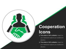 Cooperation Icons Ppt Background Graphics