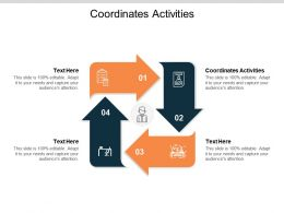 Coordinates Activities Ppt Powerpoint Presentation Professional Graphics Design Cpb
