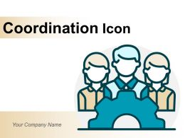 Coordination Icon Business Cooperation Activities Workplace Teamwork Marketing Puzzle