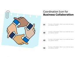 Coordination Icon For Business Collaboration
