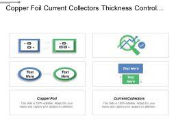 Copper Foil Current Collectors Thickness Control Active Materials