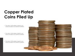 Copper Plated Coins Piled Up