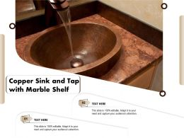 Copper Sink And Tap With Marble Shelf