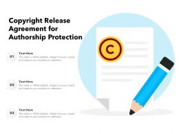 Copyright Release Agreement For Authorship Protection
