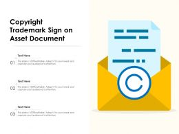 Copyright Trademark Sign On Asset Document