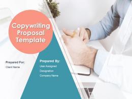 Copywriting Proposal Template Powerpoint Presentation Slides