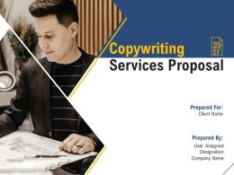 Copywriting Services Proposal Powerpoint Presentation Slides