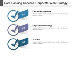 Core Banking Services Corporate Web Strategy Customer Growth Solution Cpb