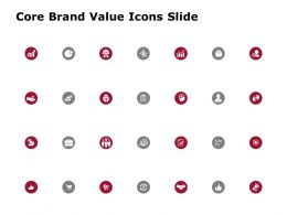 Core Brand Value Icons Slide Growth Management C854 Ppt Powerpoint Presentation File Outline