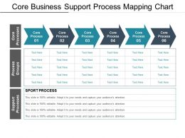 Core Business Support Process Mapping Chart