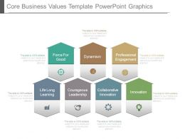 Core Business Values Template Powerpoint Graphics