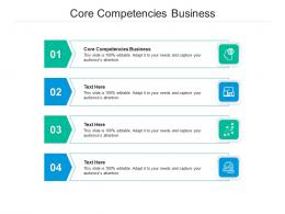 Core Competencies Business Ppt Powerpoint Presentation Outline Example Introduction Cpb