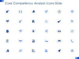 Core Competency Analysis Icons Slide Opportunity Ppt Presentation Pictures Ideas