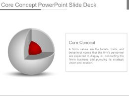 Core Concept Powerpoint Slide Deck