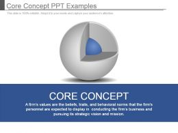 Core Concept Ppt Examples