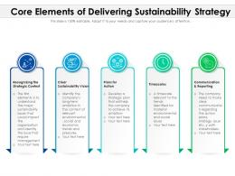 Core Elements Of Delivering Sustainability Strategy