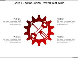 Core Function Icons Powerpoint Slide