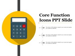 Core Function Icons Ppt Slide