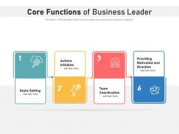 Core Functions Of Business Leader