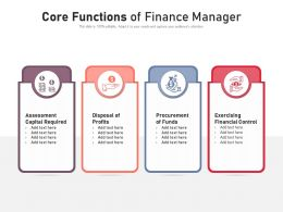 Core Functions Of Finance Manager