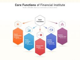 Core Functions Of Financial Institute