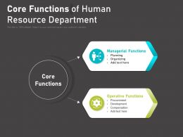 Core Functions Of Human Resource Department