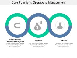 Core Functions Operations Management Ppt Powerpoint Presentation Slides Templates Cpb