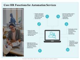 Core HR Functions For Automation Services Ppt Powerpoint Presentation Professional Display