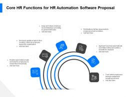 Core HR Functions For HR Automation Software Proposal Ppt File Elements