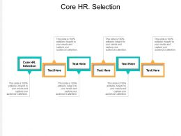 Core HR Selection Ppt Powerpoint Presentation Infographics Microsoft Cpb