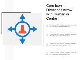 Core Icon 4 Directions Arrow With Human In Centre