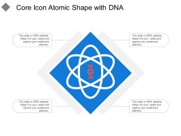 Core Icon Atomic Shape With Dna
