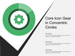 Core Icon Gear In Concentric Circles