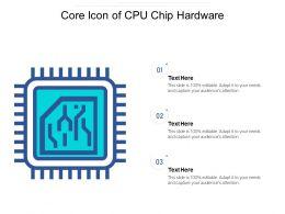 Core Icon Of Cpu Chip Hardware