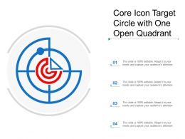 Core Icon Target Circle With One Open Quadrant