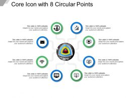 Core Icon With 8 Circular Points