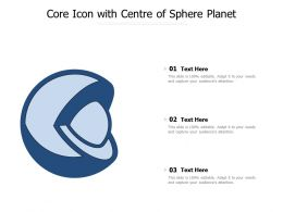 Core Icon With Centre Of Sphere Planet