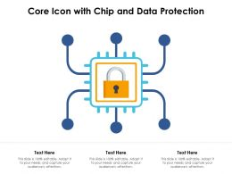 Core Icon With Chip And Data Protection