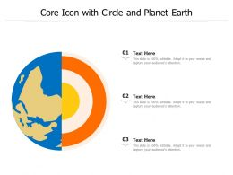 Core Icon With Circle And Planet Earth