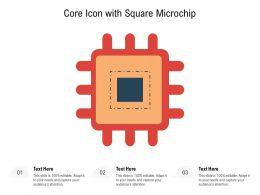 Core Icon With Square Microchip