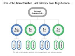 Core Job Characteristics Task Identity Task Significance Psychological States