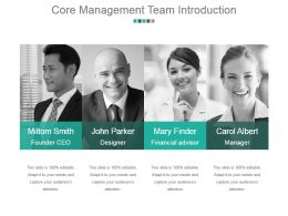 Core Management Team Introduction Good Ppt Example