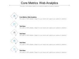 Core Metrics Web Analytics Ppt Powerpoint Presentation Icon Design Inspiration Cpb