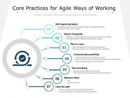 Core Practices For Agile Ways Of Working