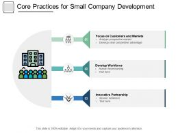 Core Practices For Small Company Development