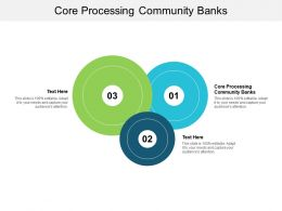 Core Processing Community Banks Ppt Powerpoint Presentation Outline Topics Cpb